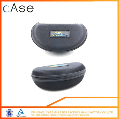 Hottest Factory Price black fabric EVA zipper sunglass case with logo