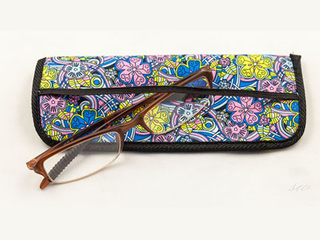 F224 hot-printing reading glasses pouch for bookmark