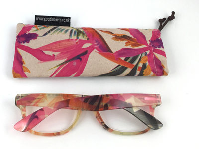 Soft hot printing suede nap reading glasses pouch D160