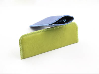 soft leather reading glasses pouch F105