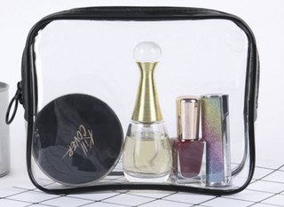 Transparent PVC cosmetic bag multi-functional gift cosmetic bag zipper waterproof travel bag