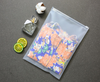 Scrub eva plastic bag waterproof travel storage bag degradable clothing bag plastic universal zipper bag