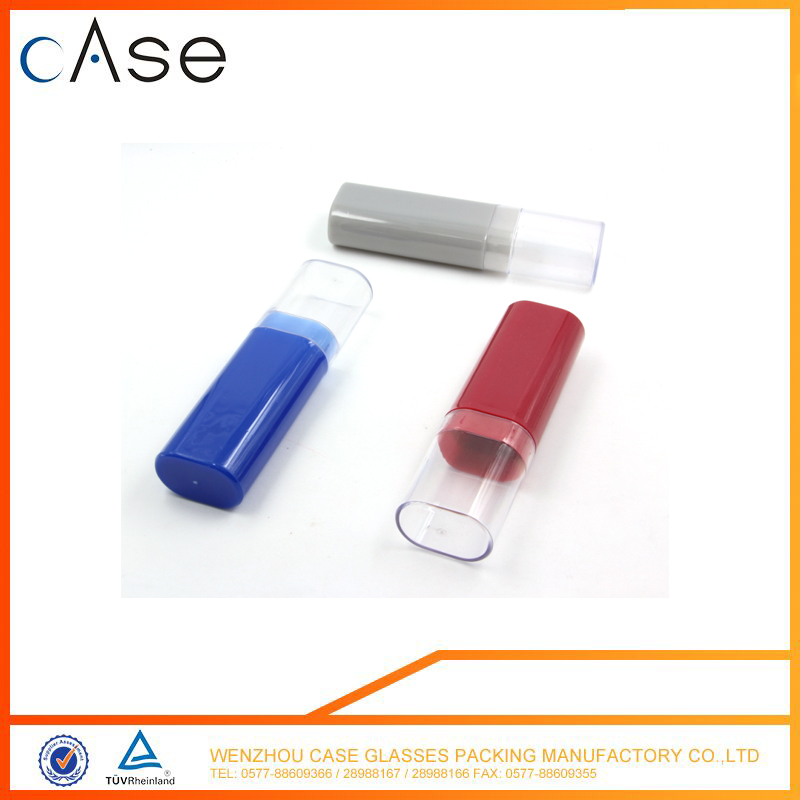 Round tube plastic clear pvc glasses case