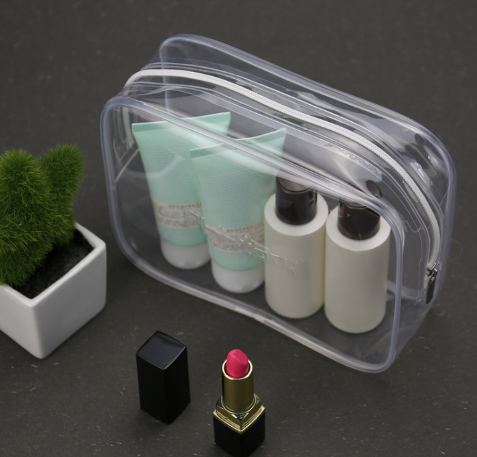 Environmental eva bag zipper hot pressing finishing portable cosmetic bag waterproof stereo multi-functional cosmetic bag transparent