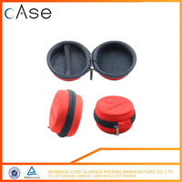 New round EVA earphones Hard shell case