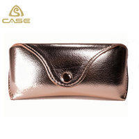 Useful rose gold eyeglasses case R96