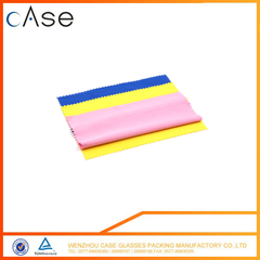 Colored cleaning microfiber cloth for glasses