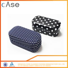 Metal iron dot hard sunglass case