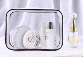 Transparent PVC cosmetic bag stereo waterproof PVC bag cosmetic gift bag travel receipt bag