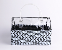Transparent pvc bag zipper travel storage bag