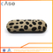 WZ suede print metal optical eyeglasses case I191