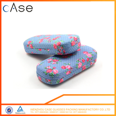 I6402 WenZhou Cotton print metal optical eyeglasses case