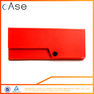 Red folding optical case triangle
