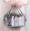 New PVC cosmetic bag transparent handheld large capacity dazzling thread inlay finishing gargle bag