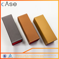Factory directly provide leather buy foldable eyeglass case