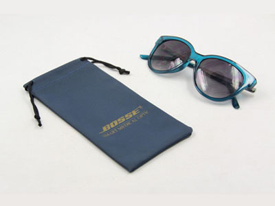 PVC PU sunglasses pouch with embossed logo D02