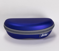 2021 Glasses Case Sunglasses Blue.Zip-type Labeled Eyeglass Case That Looks Like A Fanny Pack