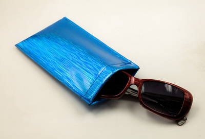 A Pair of Glasses Bags in 2021 with Striped Print Pockets