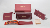 2021 sunglasses, Burgundy, logo-printed glasses case set, available in a variety of styles