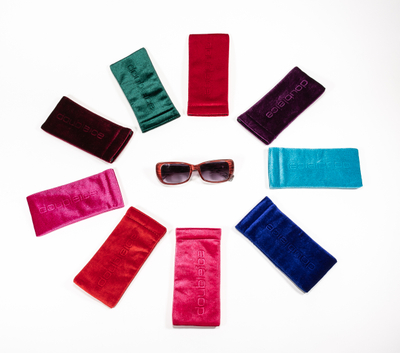 2021 Sunglasses Pocket with 9 Colors, Glasses Pocket with LOGO Printed