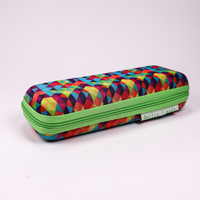 2021 glasses case Sunglasses colored triangle-printed, zip-chain type glasses case