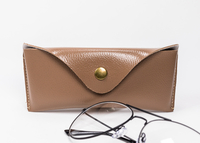2021 Glasses Case A Brown Eyeglass Case That Looks Like A Leather Bag