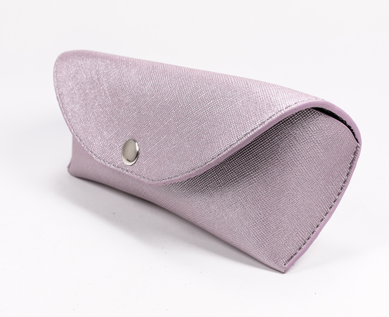 2021 Glasses case Sunglasses case light purple glasses case, like a small leather bag