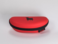 2021 Glasses Case A Red, Bull-printed, Zip-on Eyewear Case That Looks Like A Fanny Pack