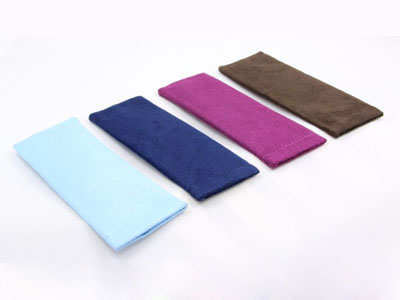 Suede nap reading glasses pouch with leaf spring D73