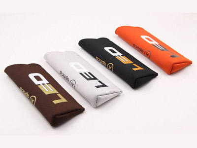 F201 Colorful microfiber glasss pouch with Hot stamping film