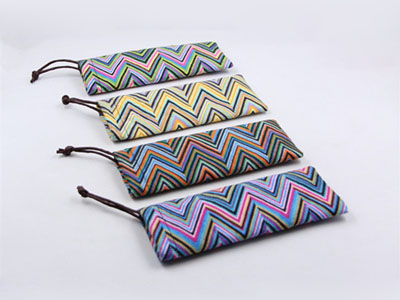 Soft suede nap reading eyeglasses pouch D93