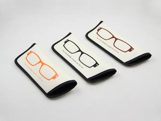 soft leather reading glasses pouch F121